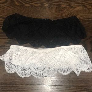Bandeau black and ivory
